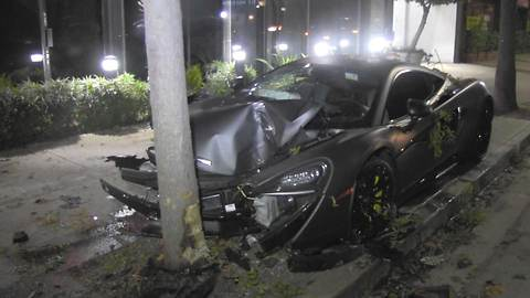 Terrence J's McLaren Sports Car Smashed, Investigated for Alleged Hit & Run
