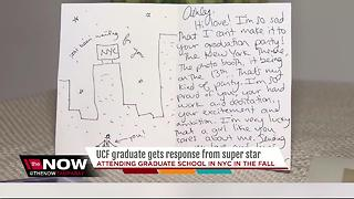 UCF graduate gets response from super star - Video