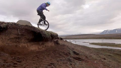 One wheel good, two wheels bad: Daredevil who rides down mountains on a unicycle