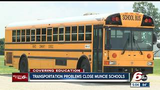 Muncie schools closed for second day after transportation issues on first day of class - Video