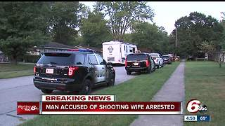 Man accused of shooting wife in Brownsburg arrested - Video