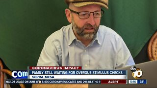 Frustrated family waiting for overdue stimulus checks