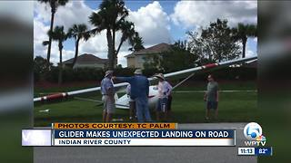 Glider makes unexpected landing on Indian River County road - Video