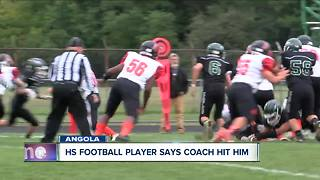 High School football player says coach hit him - Video