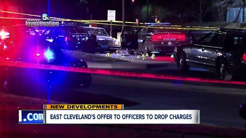 East Cleveland offer to officers to drop charges