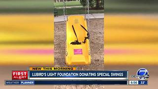 LuBird's Light Foundation donating swings and raising money to build playground - Video