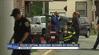 Green Bay police captain, secretary sickened by envelope - Video