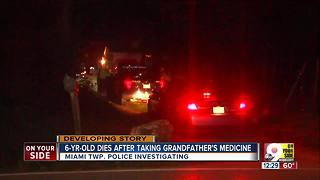 Girl died after taking grandpa's medication, Miami Township police say - Video