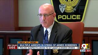 Multiple arrests in string of armed robberies - Video
