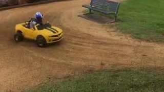 Little Boy Cruises Around in a Mini Camaro - Video