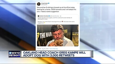 Retweets for Greg Kampe's new puppy!