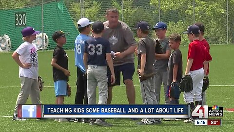 Teaching kids some baseball, a lot about life