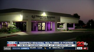 Bakersfield Behavioral Health Hiring 20 Positions at Job Fair