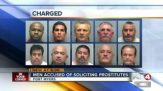 10 Men busted during Fort Myers prostitution sting