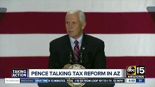 Vice President Mike Pence to tout tax reform plan in Phoenix - Video