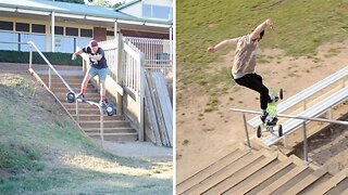 Skilled Mountainboarder Pulls Off Amazing Tricks