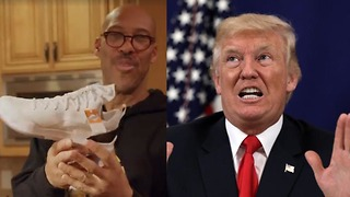LaVar Ball FINALLY Sends Donald Trump a Pair of ZO2's - Video