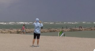 Wind gusts have lifeguards on alert