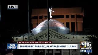 Don Shooter suspended for sexual harassment claims - Video