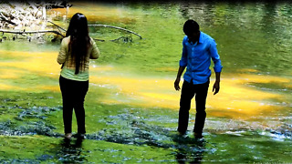 The Romantic Couple In Waterfall Place - Video