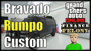 GTA 5 Online Finance And Felony DLC Bravado Rumpo Custom Gameplay - Video