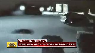 Woman killed, Army service member injured in hit-and-run - Video