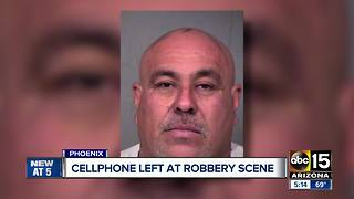 Man leaves cell phone at crime scene after committing robbery - Video