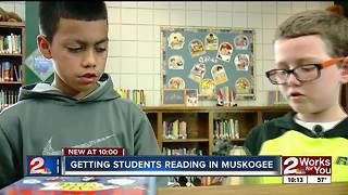 Muskogee Elementary school uses grant to buy books and keep boys reading - Video