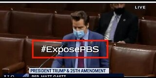 Rep. Matt Gaetz Makes Statement About Veritas #ExposePBS On The House Floor 01-12-21