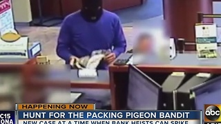 Brazen bank robber on the loose in Phoenix - Video