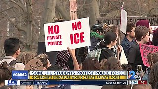Students, community protest Johns Hopkins police force