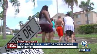 100 people still out of their homes in Fort Pierce from flooding - Video