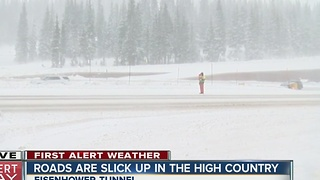 Slick roads up in the high country - Video