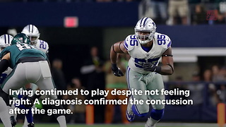 Cowboys Player David Irving 'Can't Put Words Together' After Concussion - Video