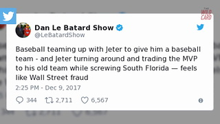 People Are Furious With Derek Jeter Over Giancarlo Stanton Trade - Video