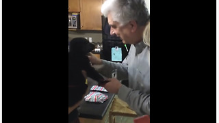 Unsuspecting Father Gets Puppy Surprise For His Birthday - Video
