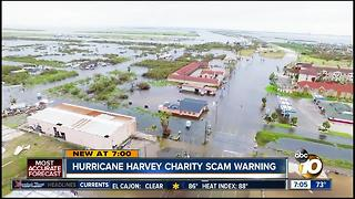 Hurricane Harvey charity scam warning - Video