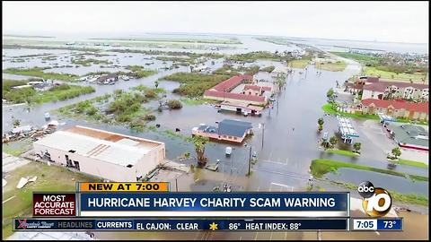 Hurricane Harvey charity scam warning