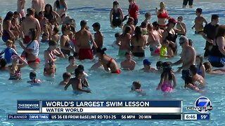 Water World taking part in largest swim lesson today