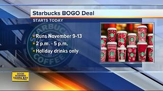Starbucks celebrates 'Give Good Share Event' with BOGO holiday drinks for five days - Video