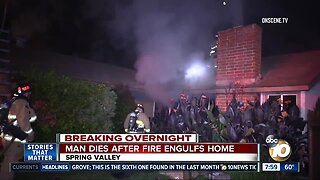 Man dies after Spring Valley house fire