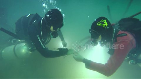 Underwater proposal - couple get engaged 30 metres deep