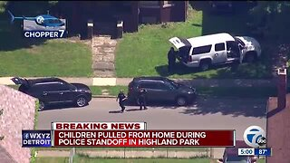 Children pulled from home during police standoff in Highland Park