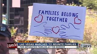 Las Vegas locals participate in nationwide protest against President Trump's immigration policy - Video
