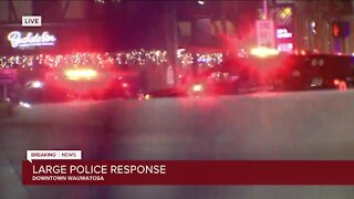 Large police response in downtown Wauwatosa