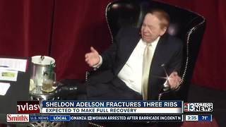 Sheldon Adelson injured in fall - Video