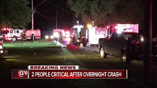 2 men critical after Whitewater Township crash - Video