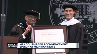 Kirk Cousins gives commencement speech at Michigan State