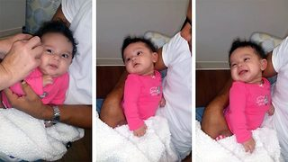 Incredible Moment Adorable Baby Hears Her Mother's Voice For The Very First Time - Video