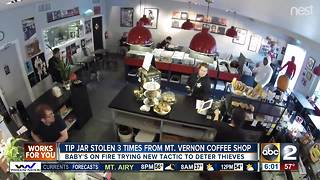 Baby's On Fire dealing with tip jar thieves - Video